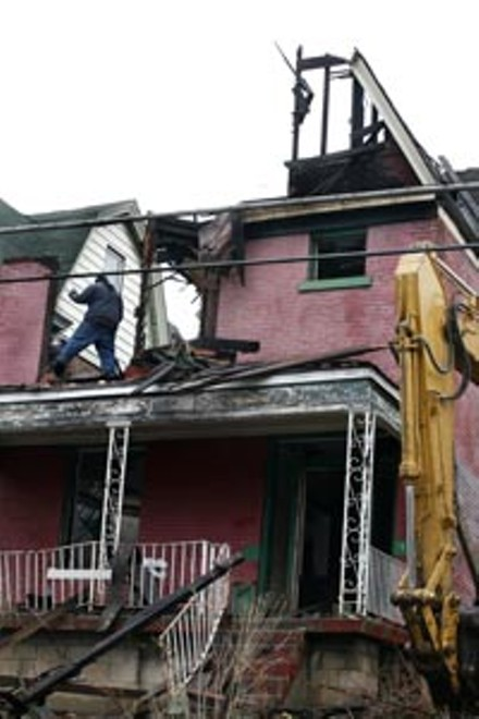 Demolition on Monongahela Street - HEATHER MULL