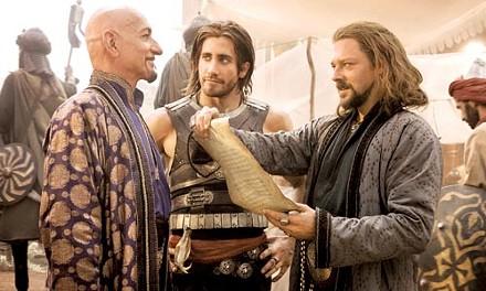 Desert fabulous: Ben Kingsley, Jake Gyllenhaal and Richard Coyle come dressed to thrill.