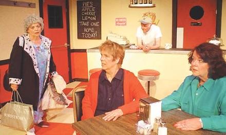 Diner daze: from left, Judith Weddell, Charlotte Sonne, Jack Goodstein and Charlene Dolfi