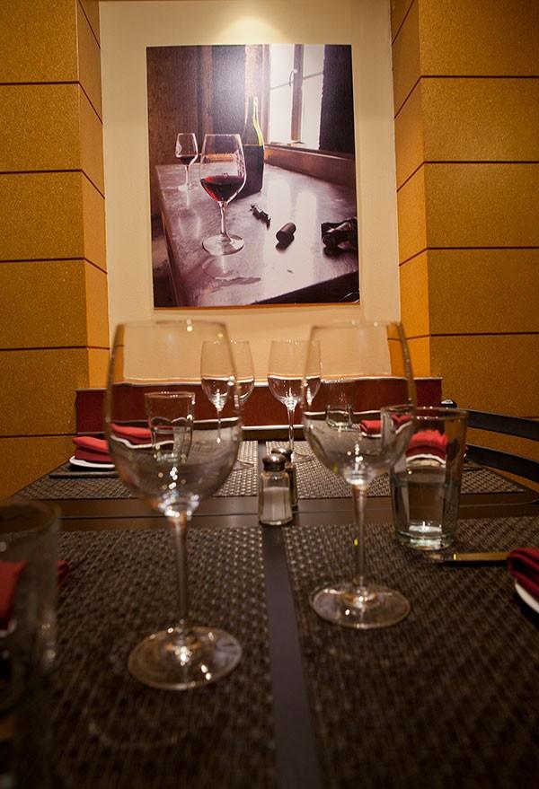 dining room at Open Bottle Bistro