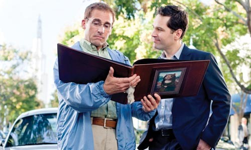 Dinner dates: Steve Carrell and Paul Rudd