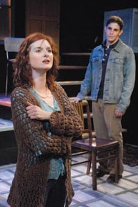 Don't say it, sing it: Daina Michelle Griffith (left) and Marcus Stevens in Eastburn Avenue, at Playhouse REP. - PHOTO COURTESY OF DREW YENCHAK, LIGHTHOUSE PHOTOGRAPHY
