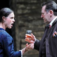 Drinking it in: Beth Wittig and Victor Slezak in A Moon for the Misbegotten, at Pittsburgh Public Theater.