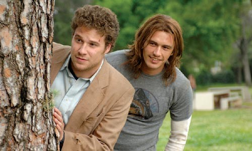 Dude, I smell smoke: Seth Rogen and James Franco