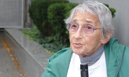Edith Bell, a veteran activist, spoke at the Sept. 28 rally. - CHRIS POTTER
