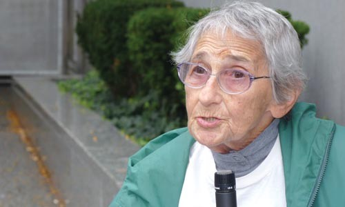 Edith Bell, a veteran activist, spoke at the Sept. 28 rally. - CHRIS POTTER