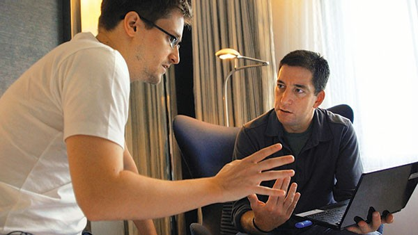 Edward Snowden and Glenn Greenwald prep for the big reveal