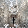 Famed architectural engineer Cecil Balmond's art installation at the Carnegie fascinates.