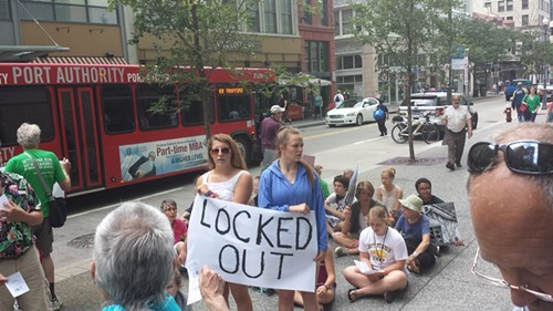 EQAT protest of PNC from July 2014 - PHOTO BY CHARLIE DEITCH