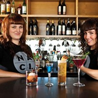 Erika Joyner and Maggie Meskey mix it up at Salt of the Earth.