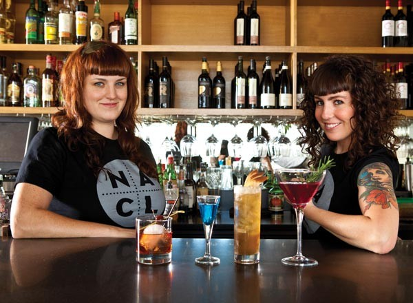 Erika Joyner and Maggie Meskey mix it up at Salt of the Earth. - PHOTO BY HEATHER MULL