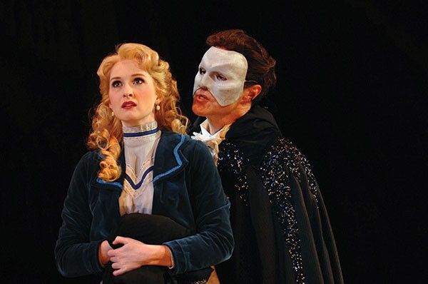 Erin Mackey and Ron Bohmer in Kopit & Yeston' s Phantom, at Pittsburgh CLO. Photo by Matt Polk.
