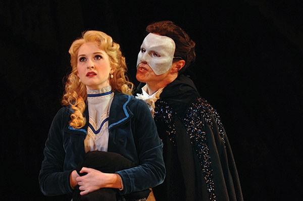 Erin Mackey and Ron Bohmer in Kopit & Yeston' s Phantom, at Pittsburgh CLO. Photo by Matt Polk.