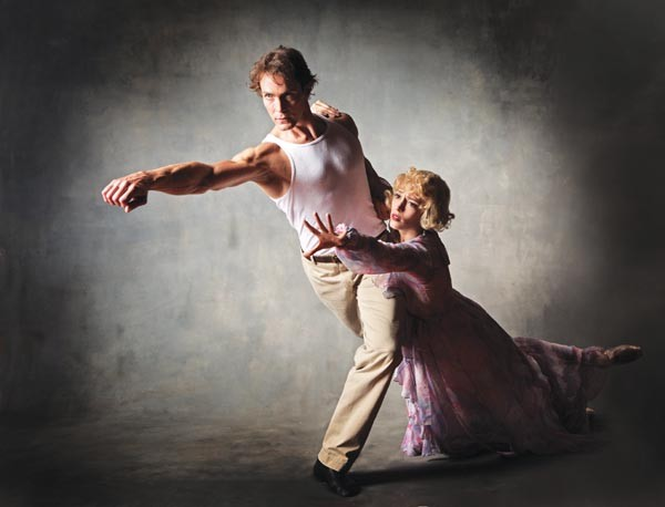 Eva Trapp and Robert Moore in Pittsburgh Ballet's A Streetcar Named Desire