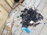 Evidence of fire, PennDOT