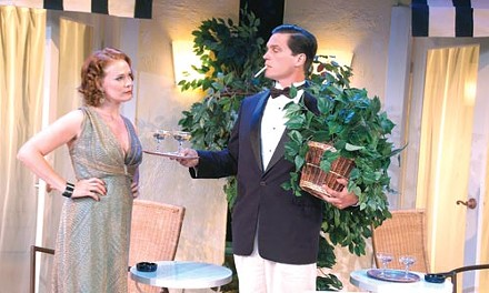 Ex marks the spot: Beth Hylton (left) and Paul Todaro play former spouses in Private Lives at Pittsburgh Irish & Classical Theatre.