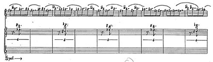 """Excerpt from the score of """"Patterns in a Chromatic Field"""""""