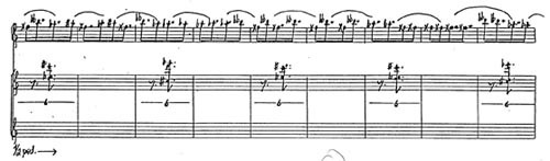 "Excerpt from the score of ""Patterns in a Chromatic Field"""