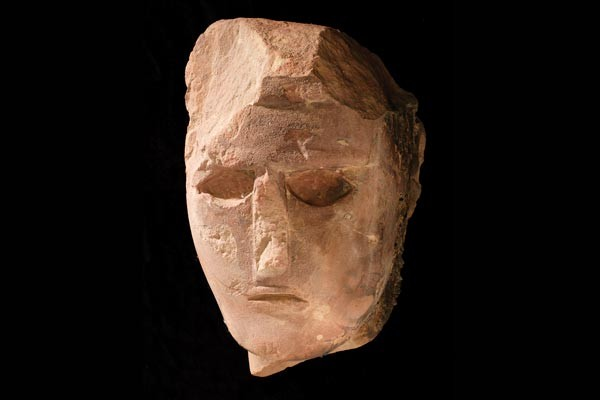 Facing the past: Head of a statue, a sandstone sculpture from Al-Ula, 4th-3rd century BCE