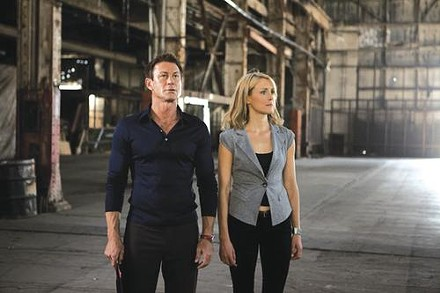 Factory ready: industrialists Hank Rearden (Grant Bowler) and Dagny Taggart (Taylor Schilling)
