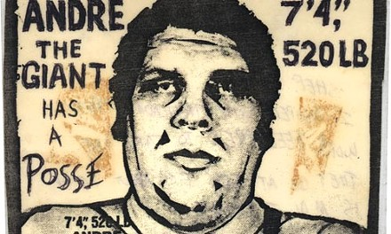 "Fairey's original 1989 ""Andre the Giant Has A Posse."" - COURTESY OF OBEY GIANT ART"