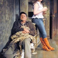 Family affairs: Stephen Mendillo and Kiley Caughey in Playhouse REP's <i>Buried Child</i>.