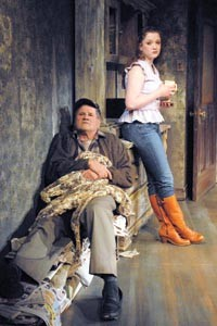 Family affairs: Stephen Mendillo and Kiley Caughey in Playhouse REP's Buried Child. - PHOTO BY DREW YENCHAK