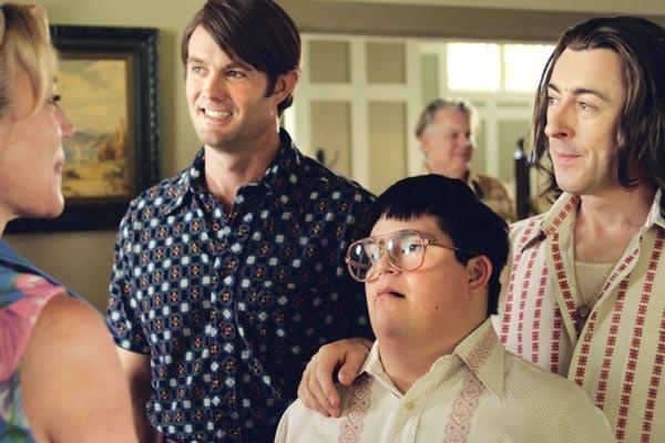 Family time: Garret Dillahunt, Isaac Leyva and Alan Cumming