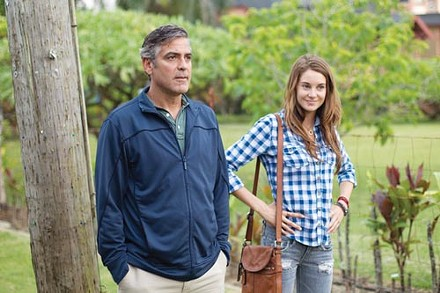 Father-daughter date: George Clooney and Shailene Woodley