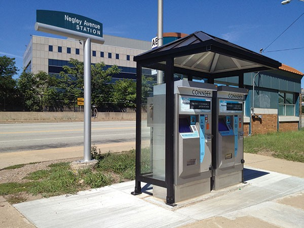 Fifty-nine pay stations have been installed in Allegheny County since 2012. One of the machines at the East Busway's Negley Station did not print receipts during a recent field test.