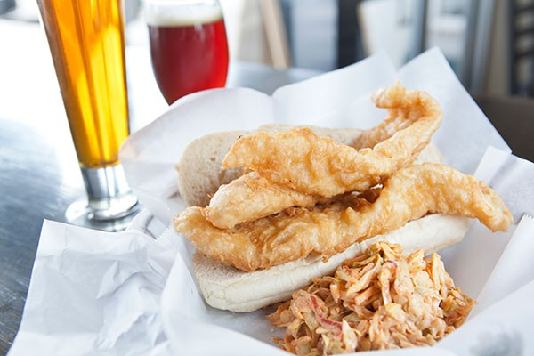 Fish sandwich and spicy slaw - PHOTO BY HEATHER MULL