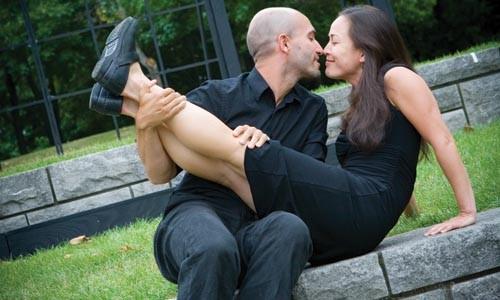 Forging ahead: Matthew Gray and Rebecca Hirota in Quantum Theatre's 36 Views