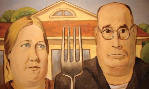 "Fork lift: Mildred Tersak's ""American Gastric."""