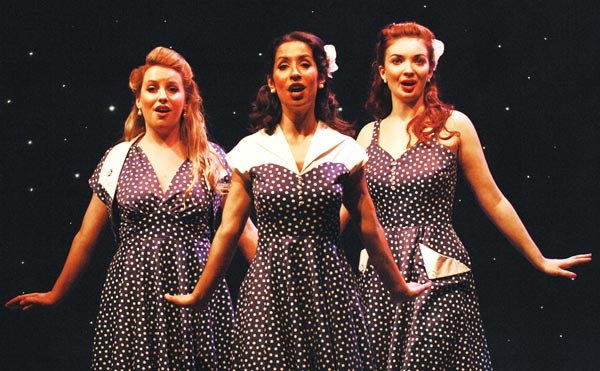 From left: Bre Pursell, Kristiann Menotiades and Katie Oxman in Pittsburgh CLO's A Grand Night for Singing