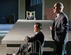 """From left: Cameron Knight (background), James Fitzgerald and Mark Conway Thompson in Quantum's """"All the Names"""" - PHOTO COURTESY OF HEATHER MULL"""