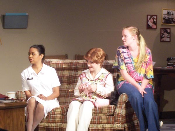 From left: Carla Clark, Erin McAuley and Ariel Leasure in Silent Heroes, at South Park Theatre.