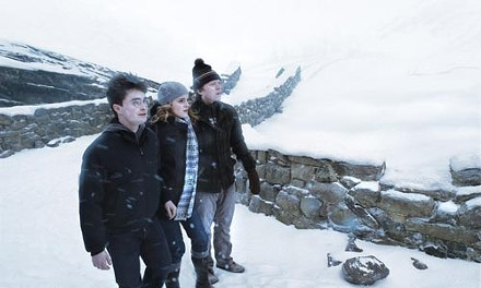 (from left) Daniel Radcliffe, Emma Watson and Rupert Grint in Harry Potter and the Half-Blood Prince.