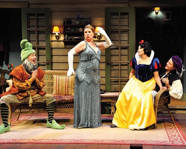 From left: Harry Bouvy, Sheila McKenna, Helena Ruoti and Karl Glusman in City Theatre's Vanya and Sonia and Masha and Spike.