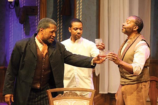 From left to right: Alan Bomar Jones, Jonathan Berry and Kevin Brown in August Wilson's Gem of the Ocean, at Pittsburgh Playwrights, June 1-24.