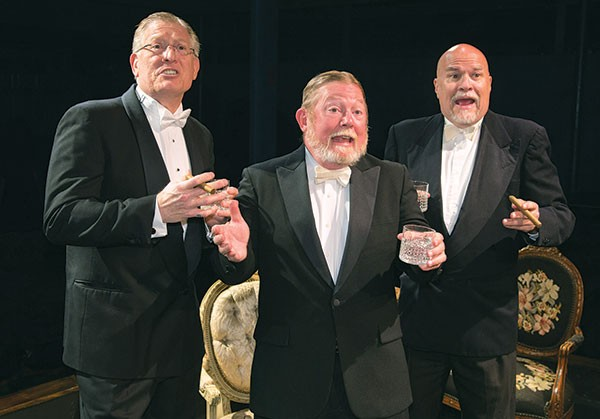 From left to right: Joe Macerelli, Jerry Wienand and Thomas Kurt Fuchel in When We Are Married, at Little Lake Theatre Co.