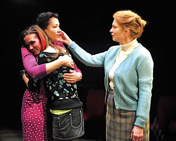 From left to right: Robin Walsh, Hayley Nielsen and Cary Anne Spear in Little Gem, at City Theatre.