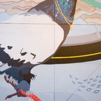"From the ground up: Details from Kate Bechak's ""Worm's Eye View"" Sprout Fund mural"