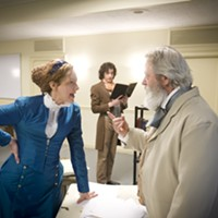 "Gab Cody (left), Drew Palajsa (in backgroun) and Philip Winters in ""Prussia: 1866"""