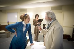 "Gab Cody (left), Drew Palajsa (in backgroun) and Philip Winters in ""Prussia: 1866"" - PHOTO COURTESY OF JEFF SWENSEN"