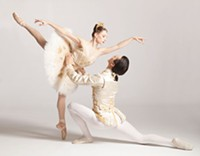 Gabrielle Thurlow and Nurlan Abougaliev in The Sleeping Beauty, at Pittsburgh Ballet