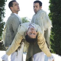 Ghosts in the machine: Joel Ripka (left), Mikelle Johnson (center) and Patrick Jordan in Quantum's <I>Cymbeline</I>.