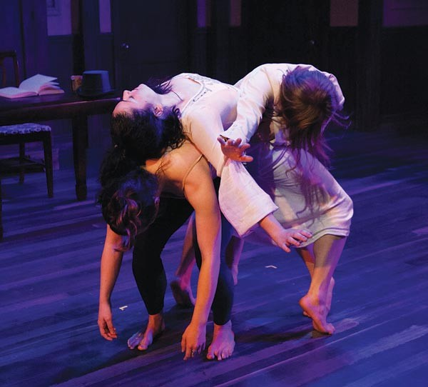 Glenna Clark, Elisa-Marie Alaio and Jenna Rae Smith in fireWALL Dance Theater's Uproar