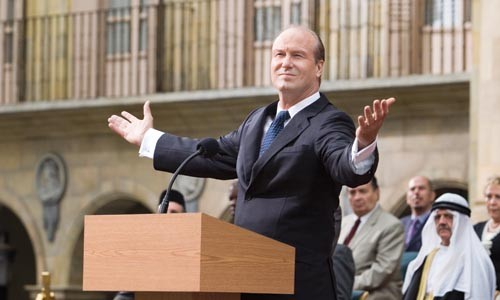 Go ahead, shoot me: William Hurt portrays U.S. President Ashton.