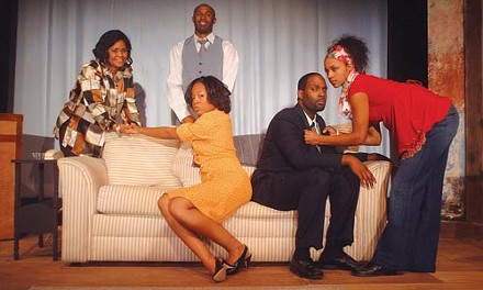 Good Penny: The cast of Diane's Heart Dries Out Still More, by Rob Penny, at Kuntu Repertory. - PHOTO BY RENEE SORRELL.