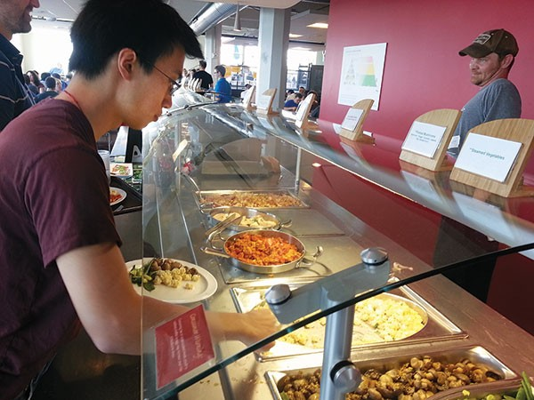 Google's Pittsburgh campus cafeteria.